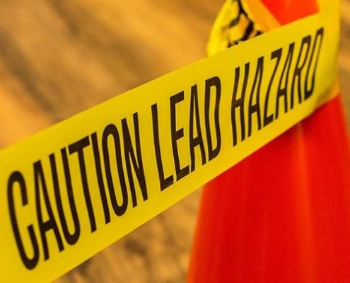 caution hazard yellow tape lab tests