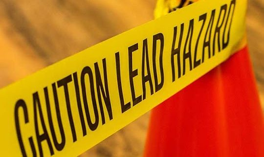 caution hazard yellow tape lab tests